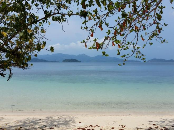Nice view from our bungalow at Good Feeling at Koh Wai, Thailand