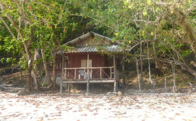 Our bungalow at Good Feeling at Koh Wai, Thailand