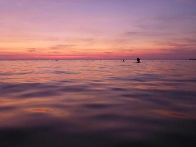 Sunset swim at Koh Kood