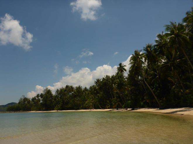 The beach at Dusita Resort, Koh Kood