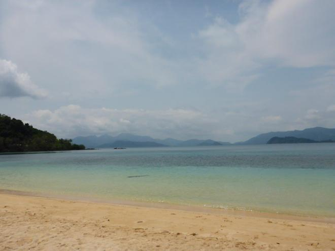 The beach at Good Feeling before the day-trippers arive at Koh Wai, Thailand