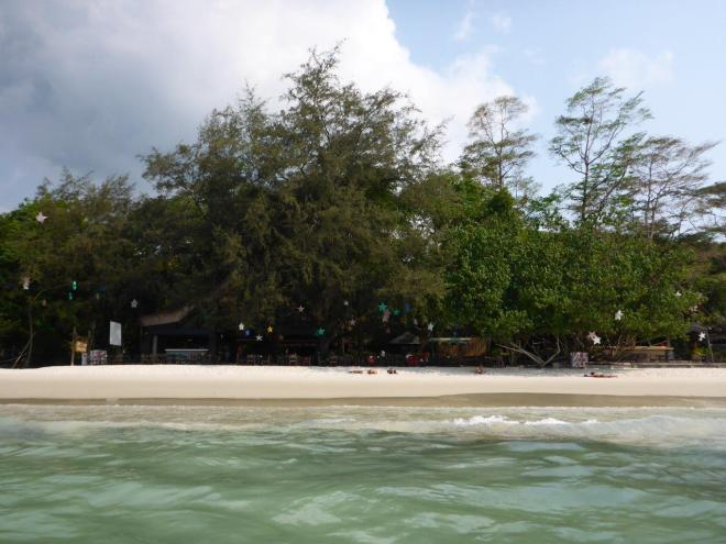 The beach in front of Jep's on Koh Samet