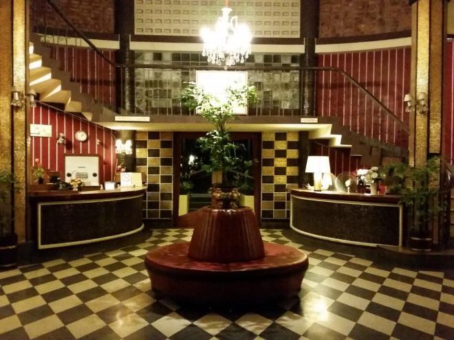 The lobby at The Atlanta Hotel in Bangkok