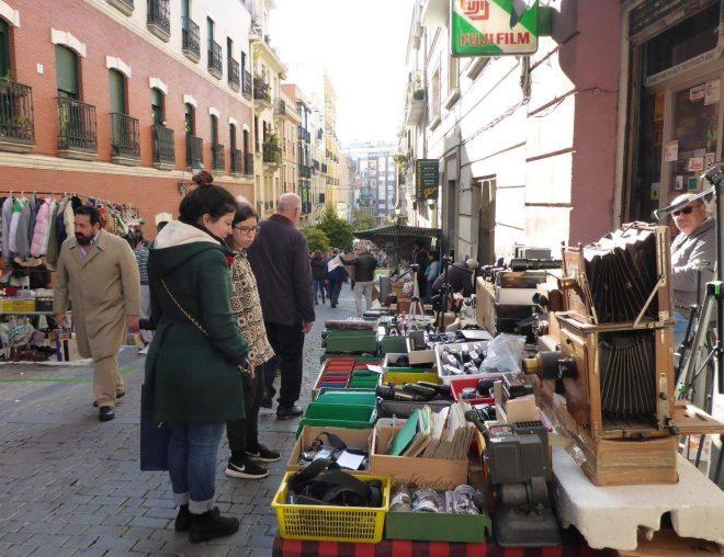Sunday at Rastro market in La Latina. Madrid, Spain.