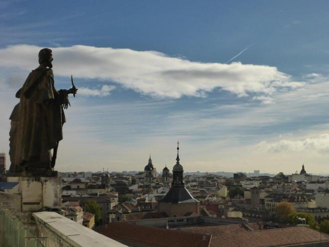 View from the dome of La Almudena Cathedral. Madrid, Spain