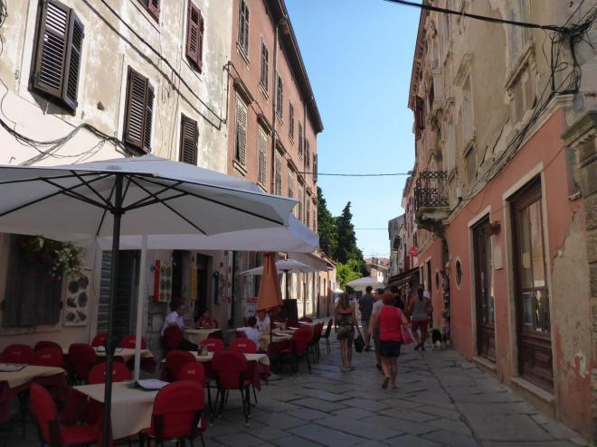 Street in old town Pula, Croatia