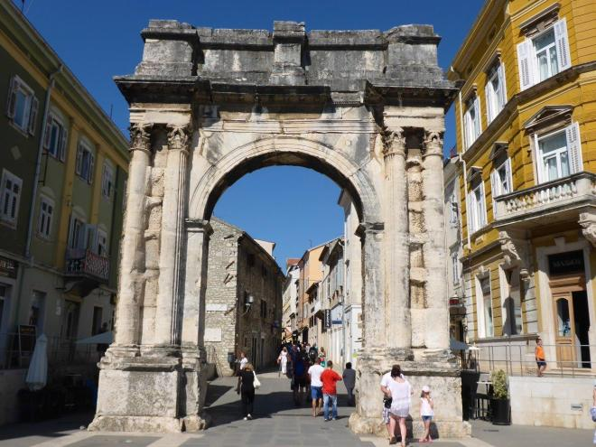 The Triumphal Arch of the Sergi in Pula, Croatia
