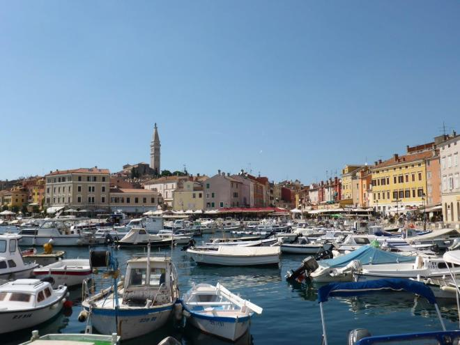 Harbour in Rovinj, Croatia