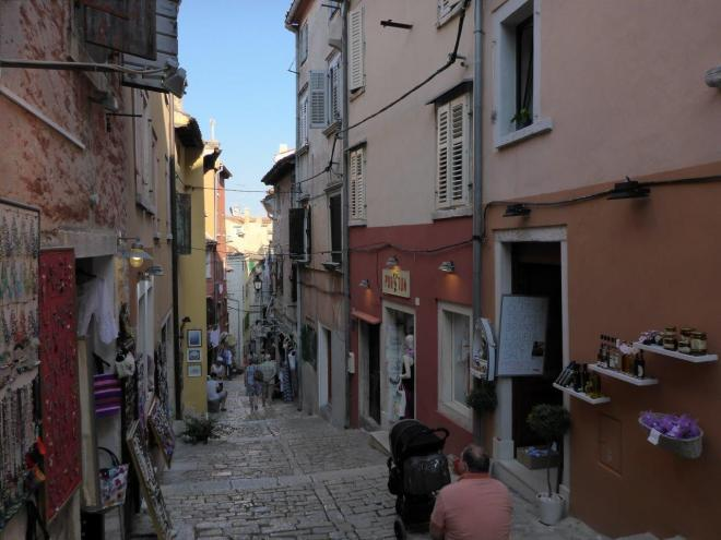 Main street in the old town in Rovinj, Croatia