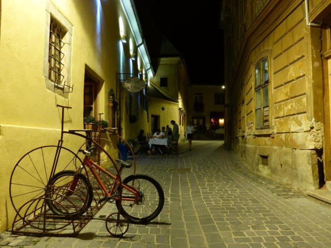 A cozy side street in Brasov old town