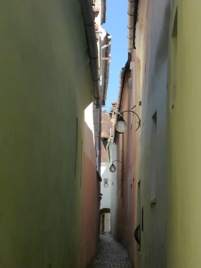 Rope street, or Strada Sforii, in Brasov
