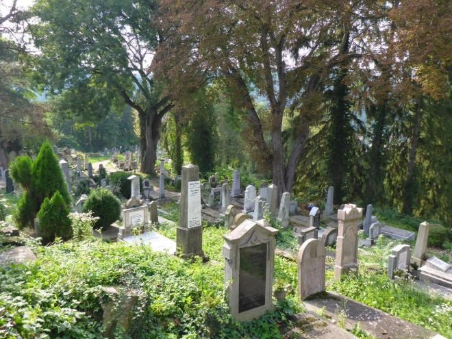 The cemetery on top of the hill in Sighisoara, Romania