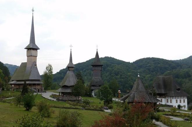 Baršana monastery complex, including one of The wooden Churches of Maramureş, Romania on the UNESCO World Heritage list