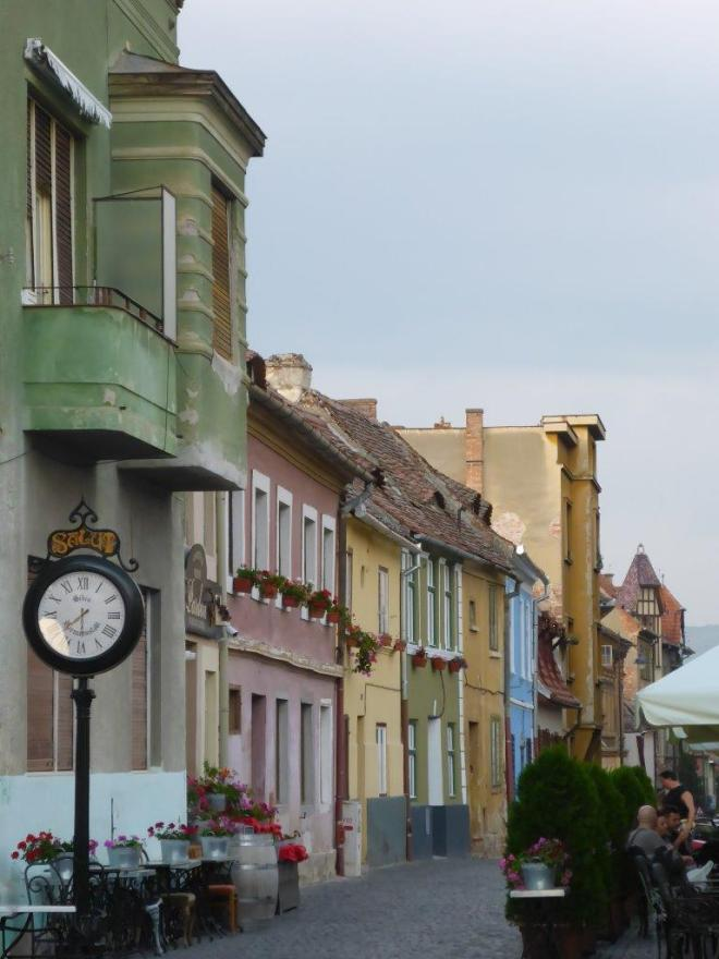 Cetatii street in Sibiu, Romania