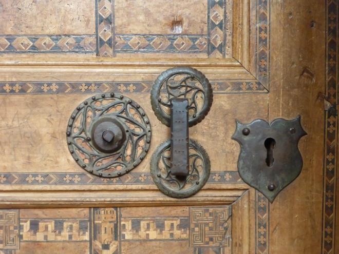 Door to the sacristy in Biertan fortified church