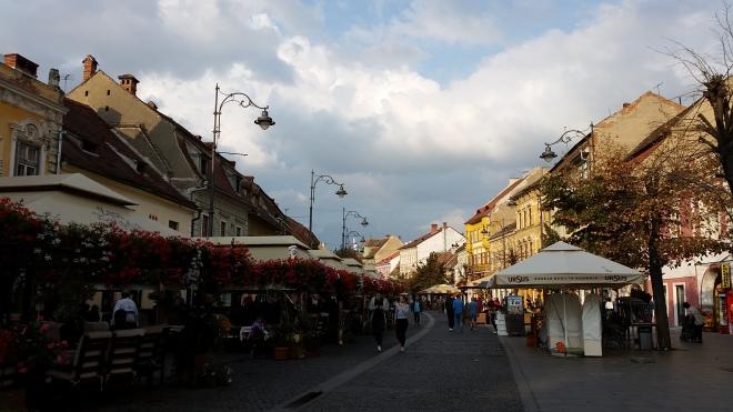 The main street in Sibiu, Romania