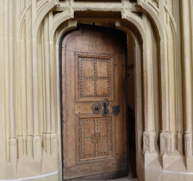 The wooden door to the sacristy in Biertan fortified church