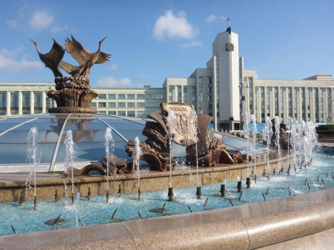 Fountain of Independence in Minsk, Belarus