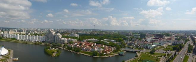 Great view of Minsk, Belarus seen from The View