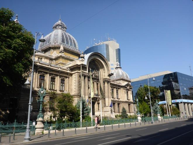 The old and new bank in Bucharest. The latter mirroring the history of the first.