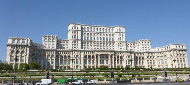 The Palace of Parliament in Bucharest, Romania