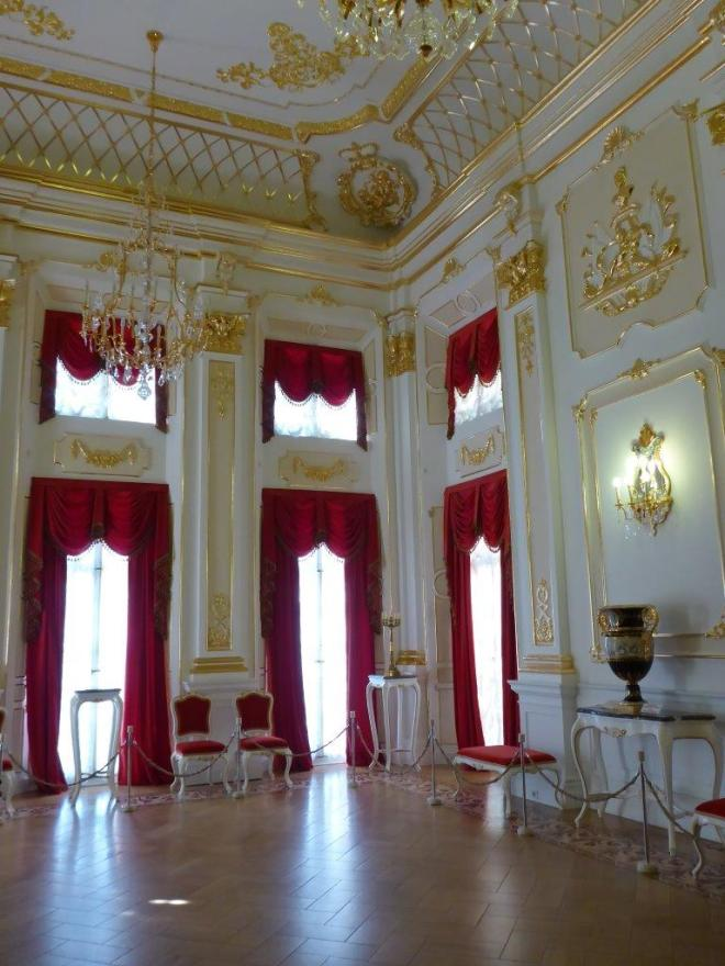 The golden room in Niasvizh palace in Belarus