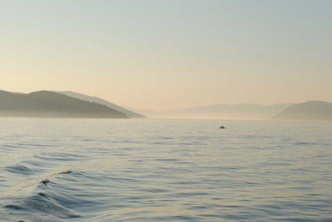 Beautiful ocean view on the crossing between Dubrovnik and Lopud island, Croatia