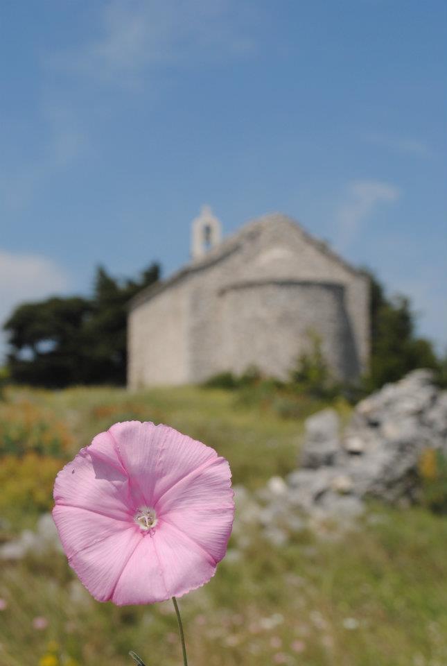 Church on the mountain behind Trogir, Croatia