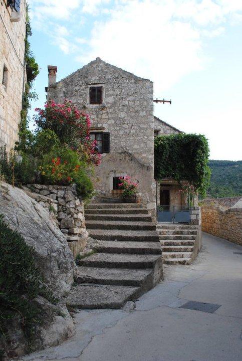 Houses in Vis town, Vis Island, Croatia