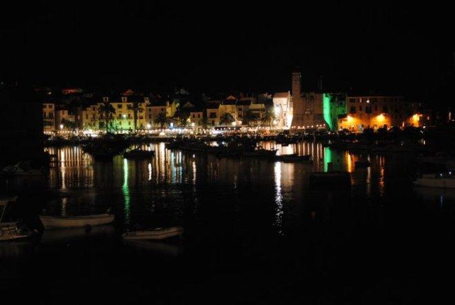 Komiza by night. Vis island, Croatia