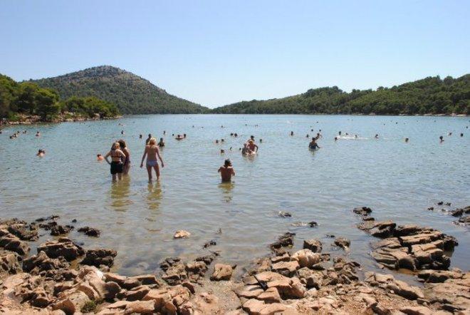 Mir, the salt water lake at Dugi Otuk. Kornati, Croatia
