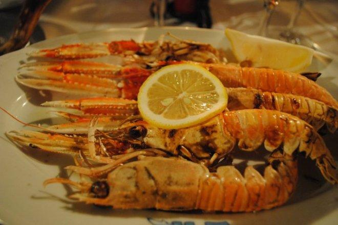 Nice and fresh seafood in Croatia