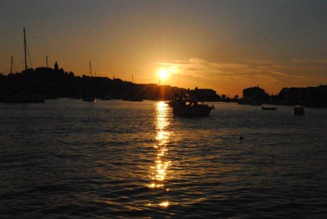 Sunset in Primosten. Croatia