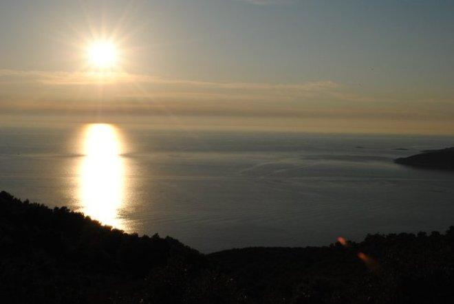 Sunset over Komiza, Vis Island, Criatia