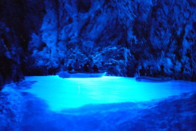 The blue cave by Bisevo outside Vis island, Croatia