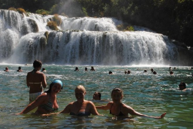 The waterfall in Krka, Croatia