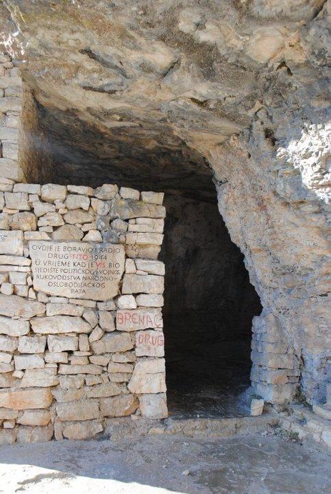 Tito's cave at Vis Island, Croatia