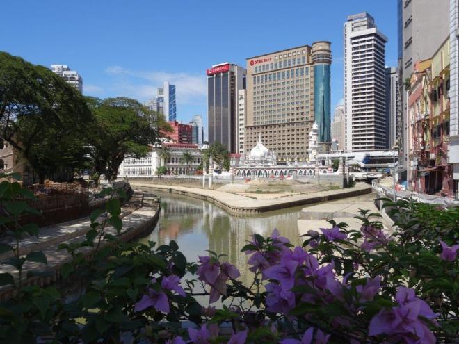 View from the Market Street Bridge in Kuala Lumpur, Malaysia