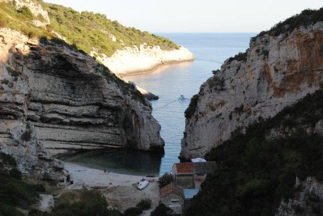 View of Stiniva bay at Vis island, Croatia