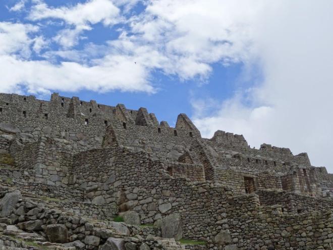 Houses in Machu Picchu, Peru.