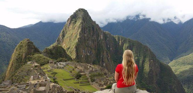 Looking out on Machu Picchu, Peru
