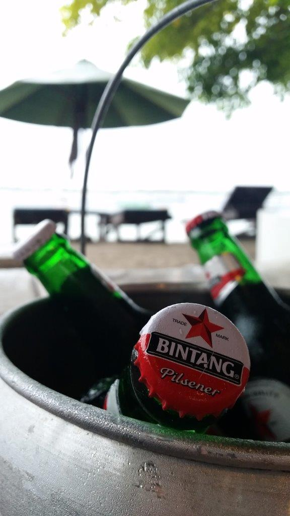 You might as well drink nice ice cold beers for the price of the sunbed. Gili Trawangan, Indonesia