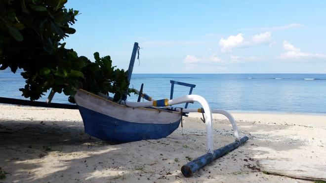 Boat life at Gili Meno island, Indonesia