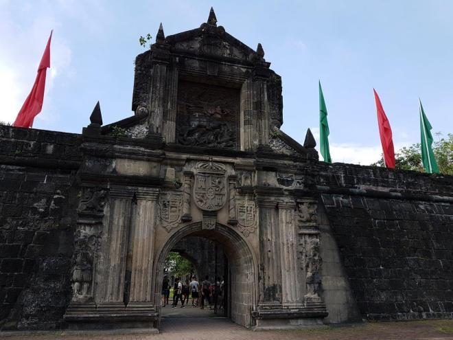 Fort Santiago inside the old town of Manila, Intramuros. Philippines