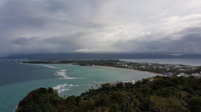 View of Boracay from Mount Luhu viewpoint. Boracay Island, The Philippines