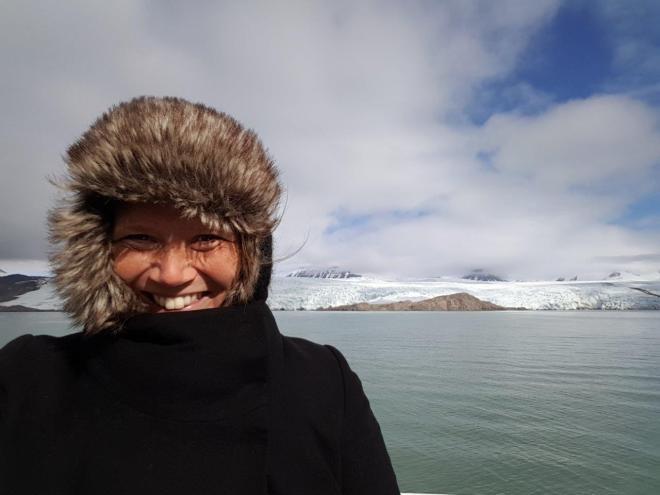 Arriving at Nordenskiöldbreen glacier. Svalbard. Spitsbergen. Norway