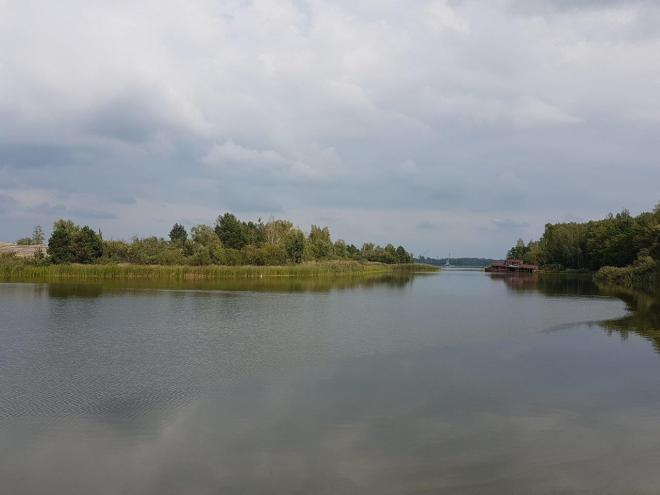 Recreation area down by the water. Pripyat, Chernobyl, Ukraine