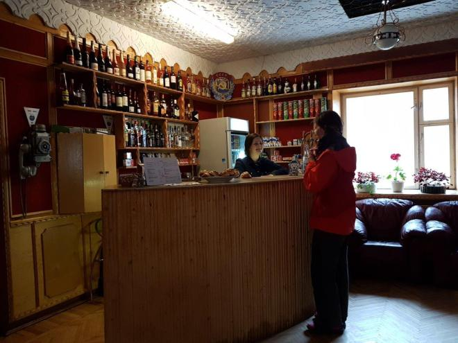The hotel bar. Pyramiden. Svalbard. Spitsbergen. Norway
