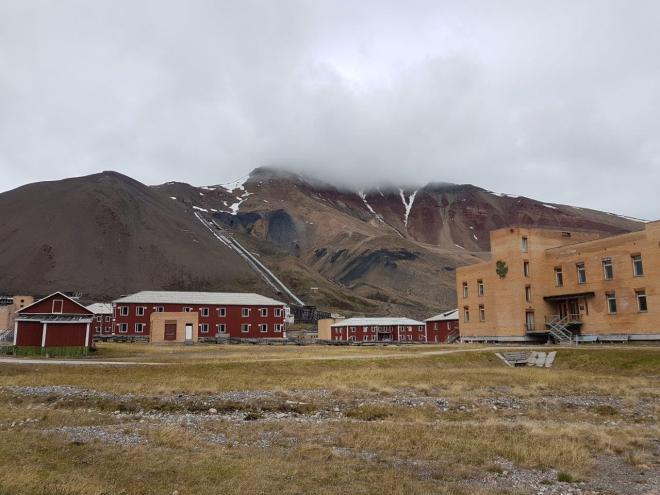 The mines behind Pyramiden. Pyramiden. Svalbard. Spitsbergen. Norway