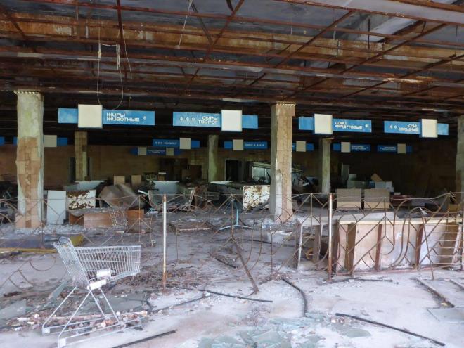 The supermarket. Pripyat, Chernobyl, Ukraine